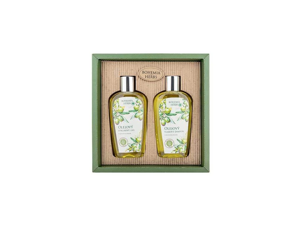 Bohemia Herbs Kosmetická sada - gel 250ml a šampon 250ml - oliva