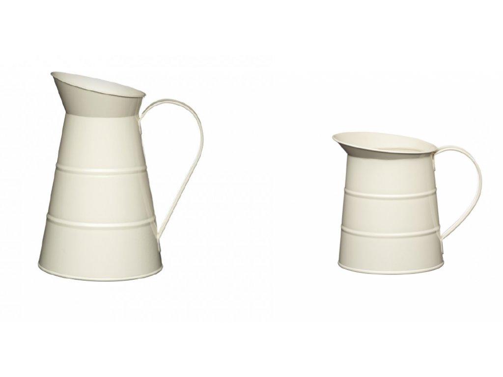 Kitchen Craft - Plechová konev Living Nostalgia - krémová