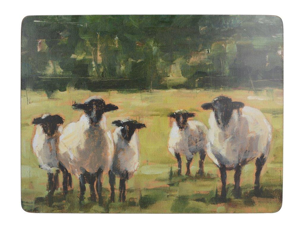 Creative Tops - Korkové prostírání Sheep malé / 29*21 cm/ - 6 ks v balení
