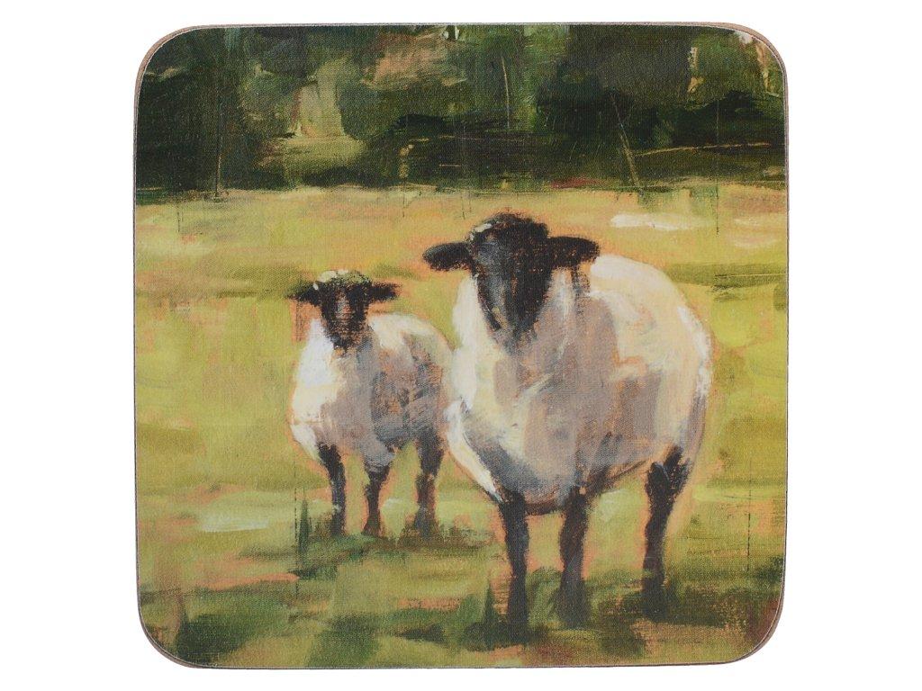 Korkové podložky pod skleničky Sheep