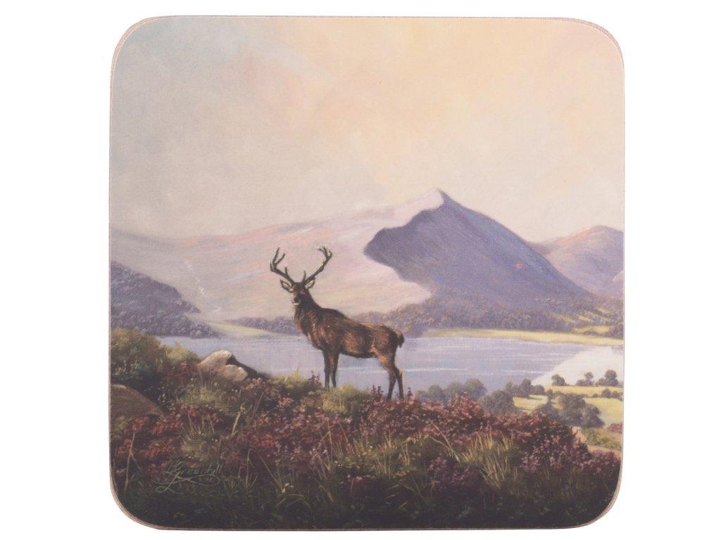 Creative Tops - Korkové podložky pod skleničky Highland Stag /10,5*10,5 cm/