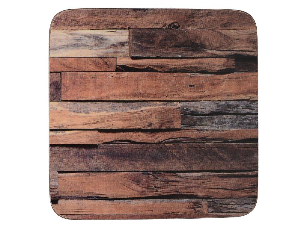 Creative Tops - Korkové podložky pod skleničky Wood Cabin /10,5*10,5 cm/