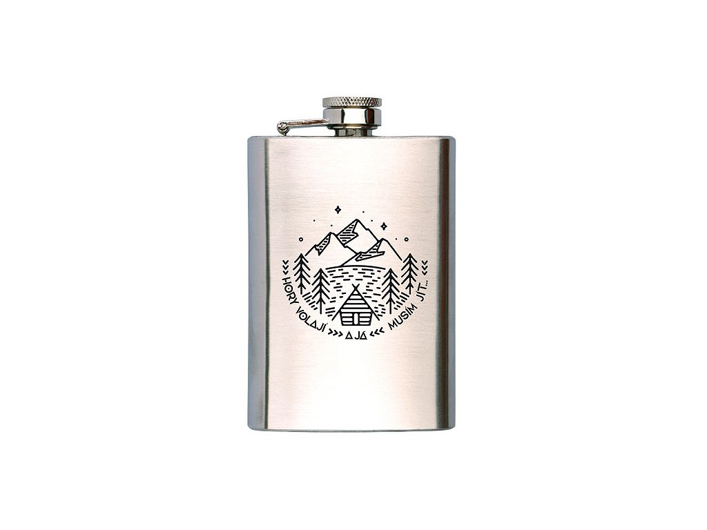 Bohemia Gifts Placatka na alkohol 200 ml - hory volají