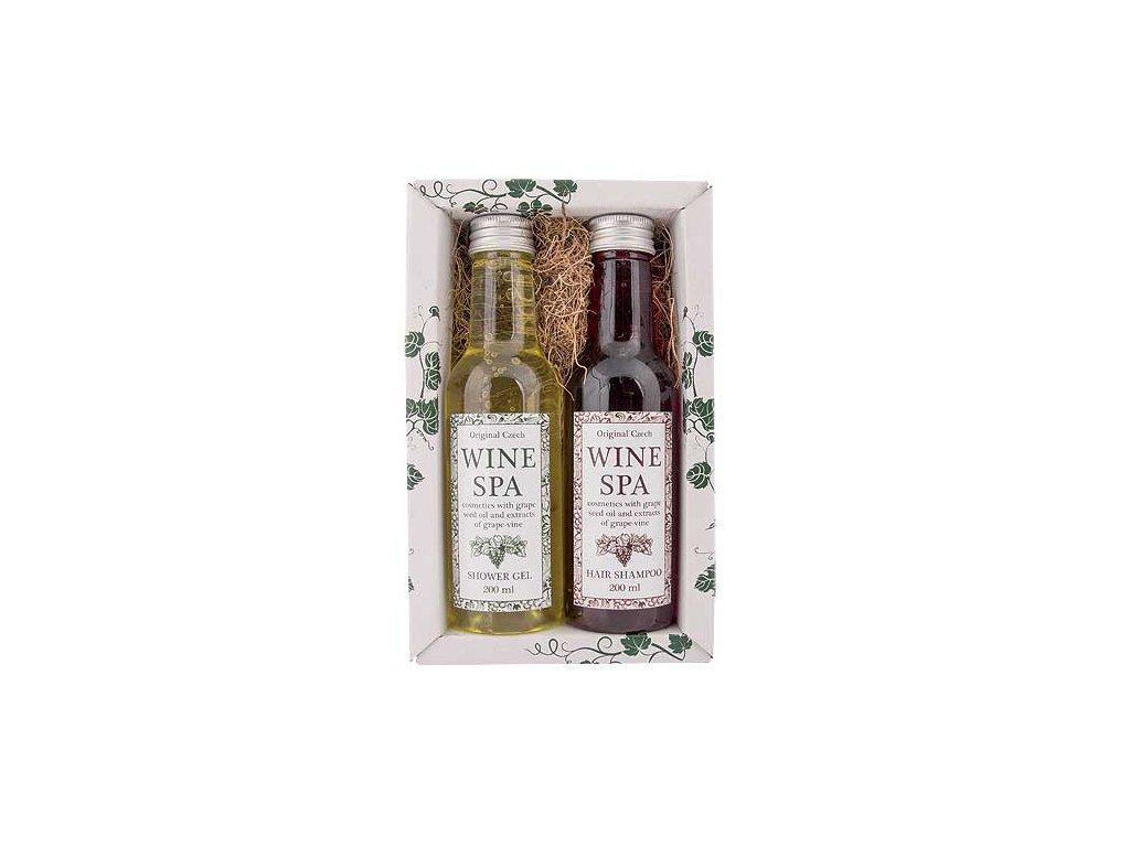 Bohemia Gifts Kosmetika Wine Spa – gel 200 ml a šampon 200 ml