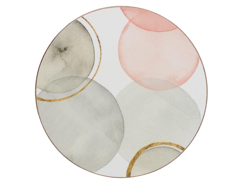 Creative Tops - Korkové podložky pod skleničky Gilded Spheres kulaté /10*10 cm/ - 4 ks v sadě