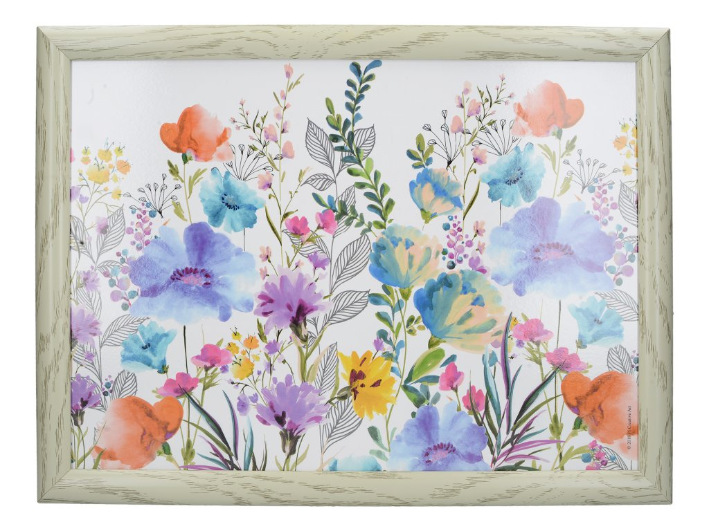 Creative Tops - Servírovací tác s polštářem Meadow Floral /44*33 cm/