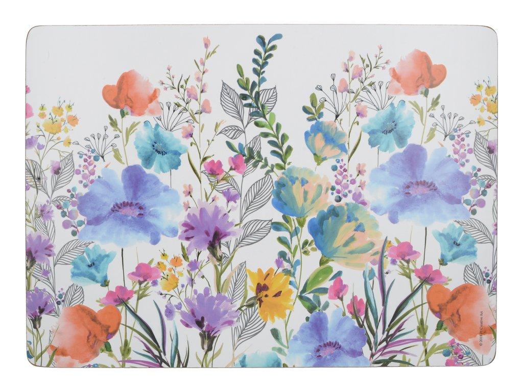 Creative Tops - Korkové prostírání Meadow Floral velké /40*29 cm/ - 4 ks v sadě