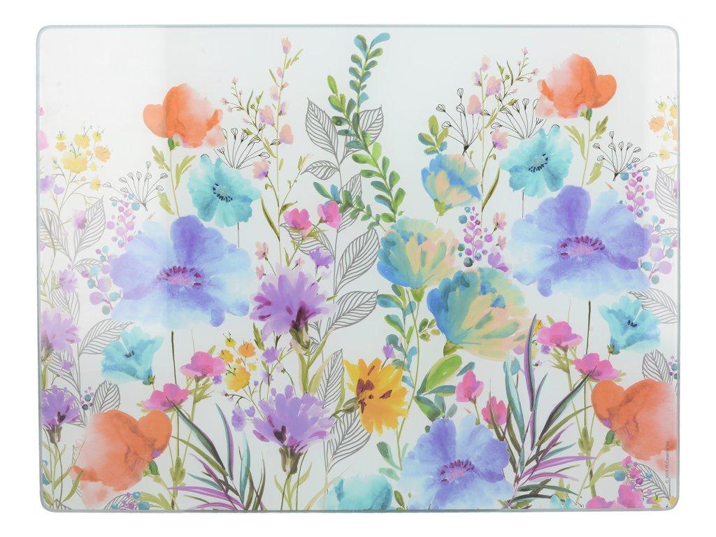 Skleněné krájecí prkénko Meadow Floral