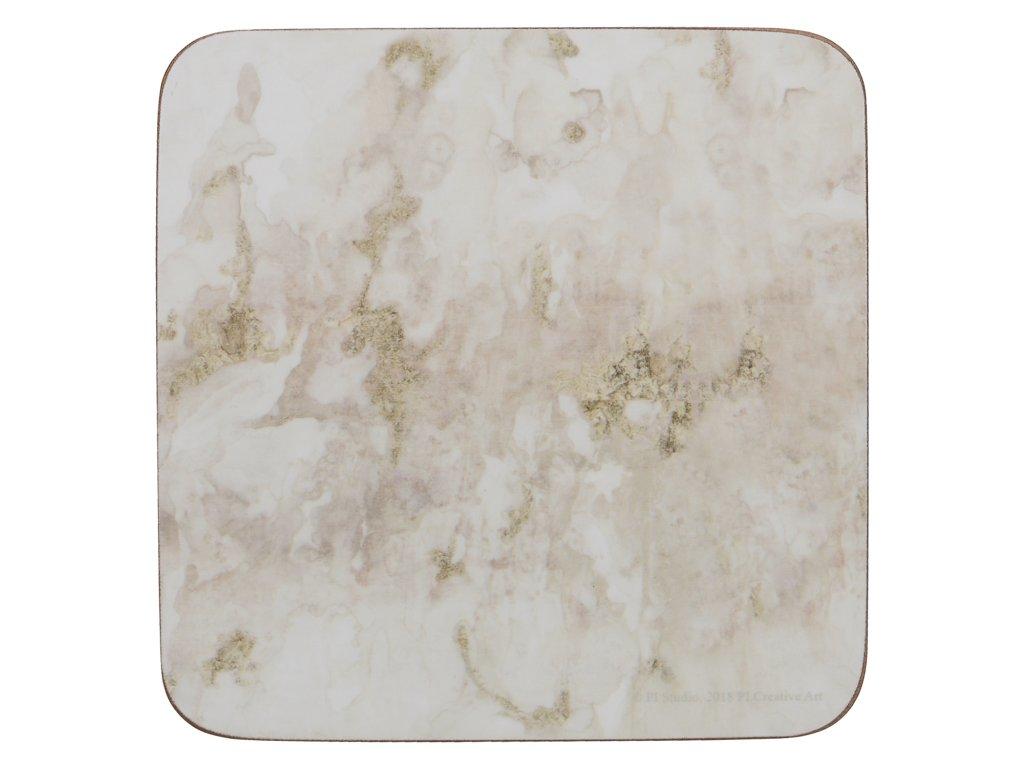 Korkové podložky pod skleničky Grey Marble