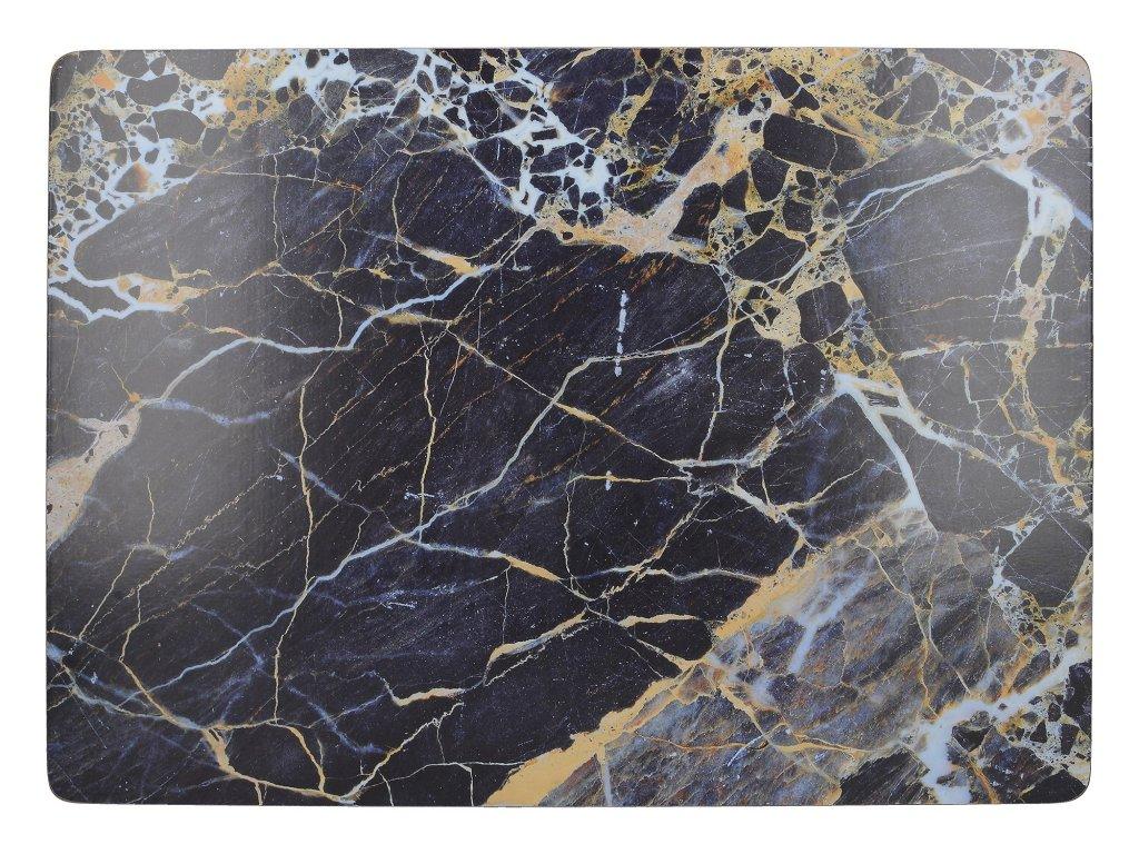 Creative Tops - Korkové prostírání Navy Marble velké /40*29 cm/ - 4 ks v sadě