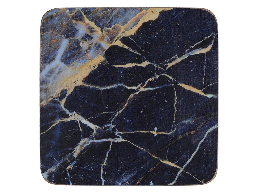 Korkové podložky pod skleničky Navy Marble