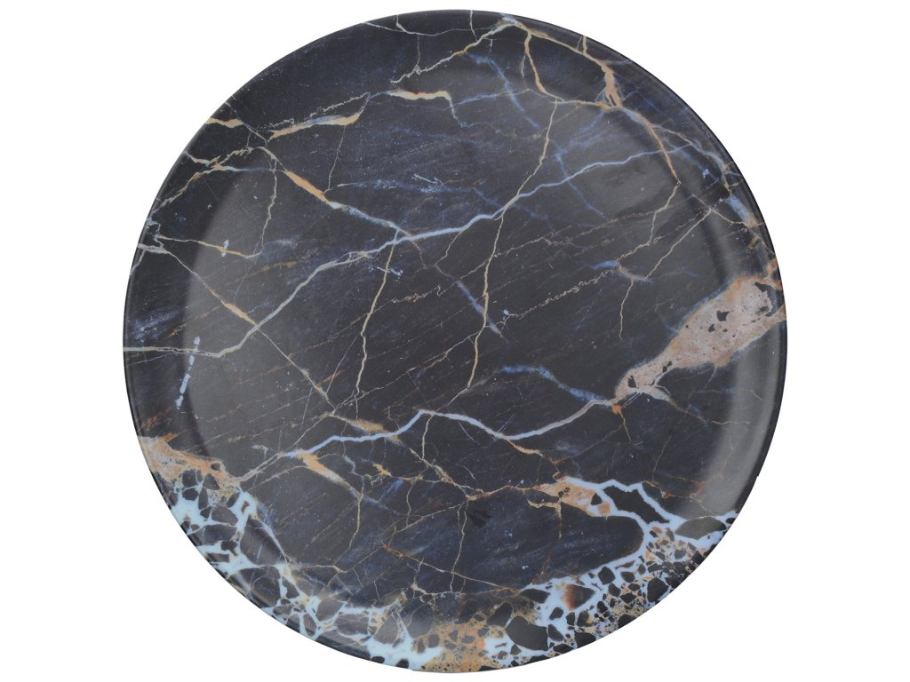 Creative Tops - Melaminový tác Navy Marble - Průměr je 36 cm