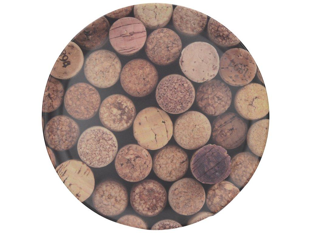 Melaminový tác Cork - Průměr je 36 cm