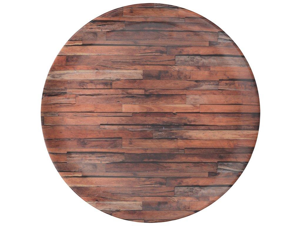 Creative Tops - Melaminový tác Wood Cabin - Průměr je 36 cm