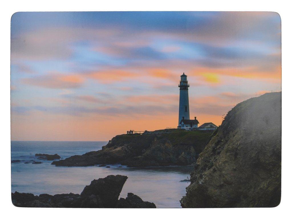 Creative Tops - Korkové prostírání Photographic Lighthouse velké /40x29 cm/ - 4 ks v sadě