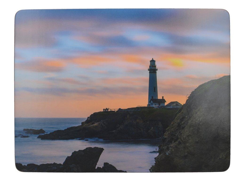 Creative Tops - Korkové prostírání Photographic Lighthouse malé / 29*21 cm/ - 6 ks v sadě