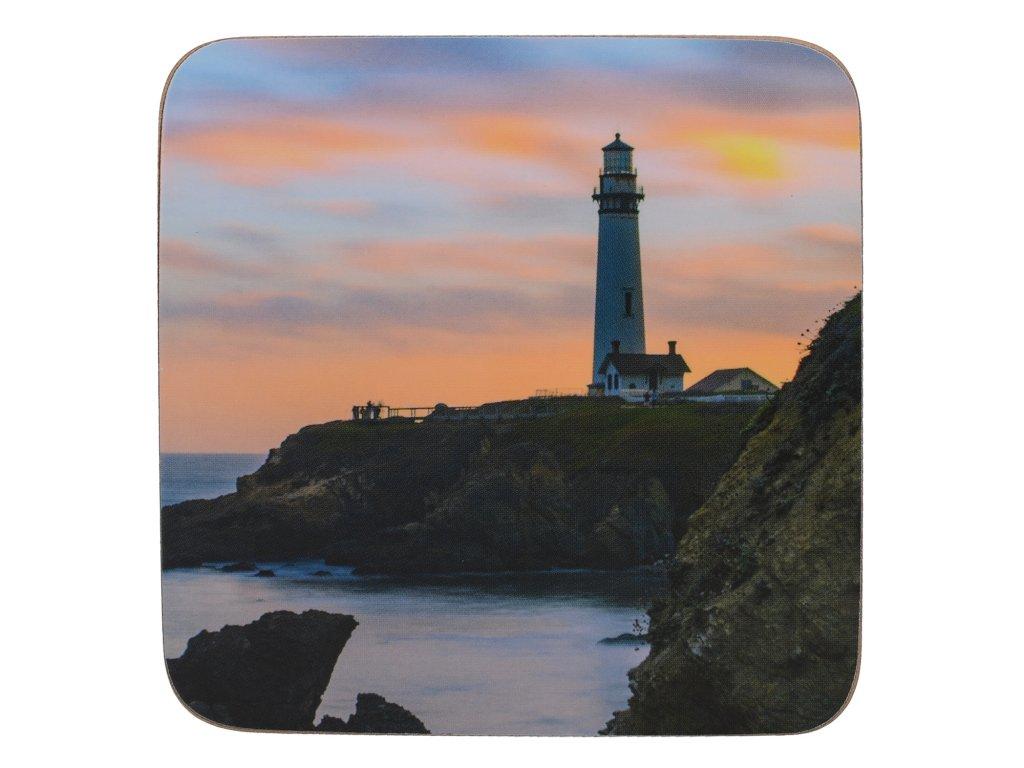 Creative Tops - Korkové podložky pod skleničky Photographic Lighthouse /10,5x10,5 cm/ - 6 ks v sadě