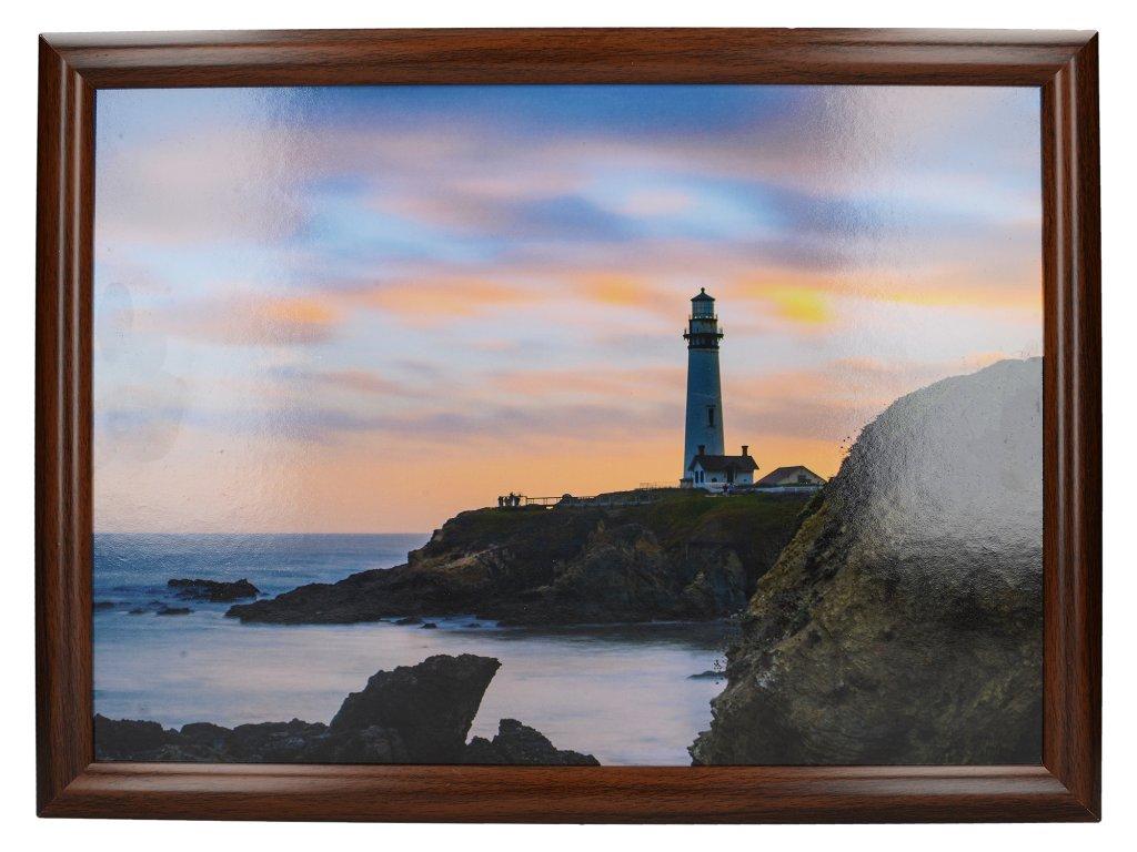Servírovací tác s polštářem Photographic Lighthouse