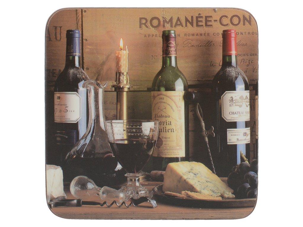 Creative Tops - Korkové podložky pod skleničky Vintage Wine /10,5*10,5 cm/ - 6 ks v sadě