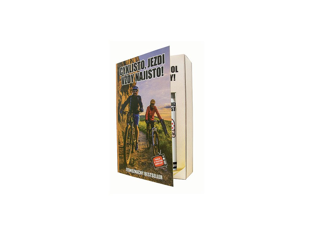 Bohemia Gifts Kosmetická sada kniha pro cyklistu – gel 200 ml a šampon 200 ml
