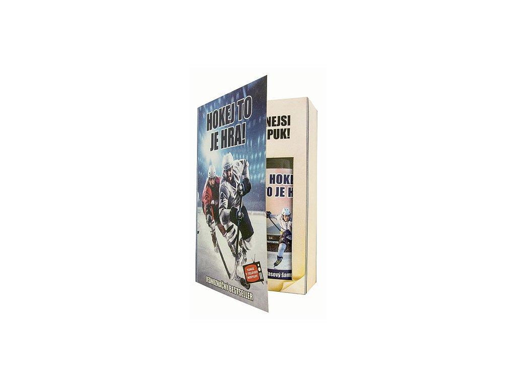 Bohemia Gifts Sada kniha hokejistu – sprchový gel 200 ml a šampon 200 ml