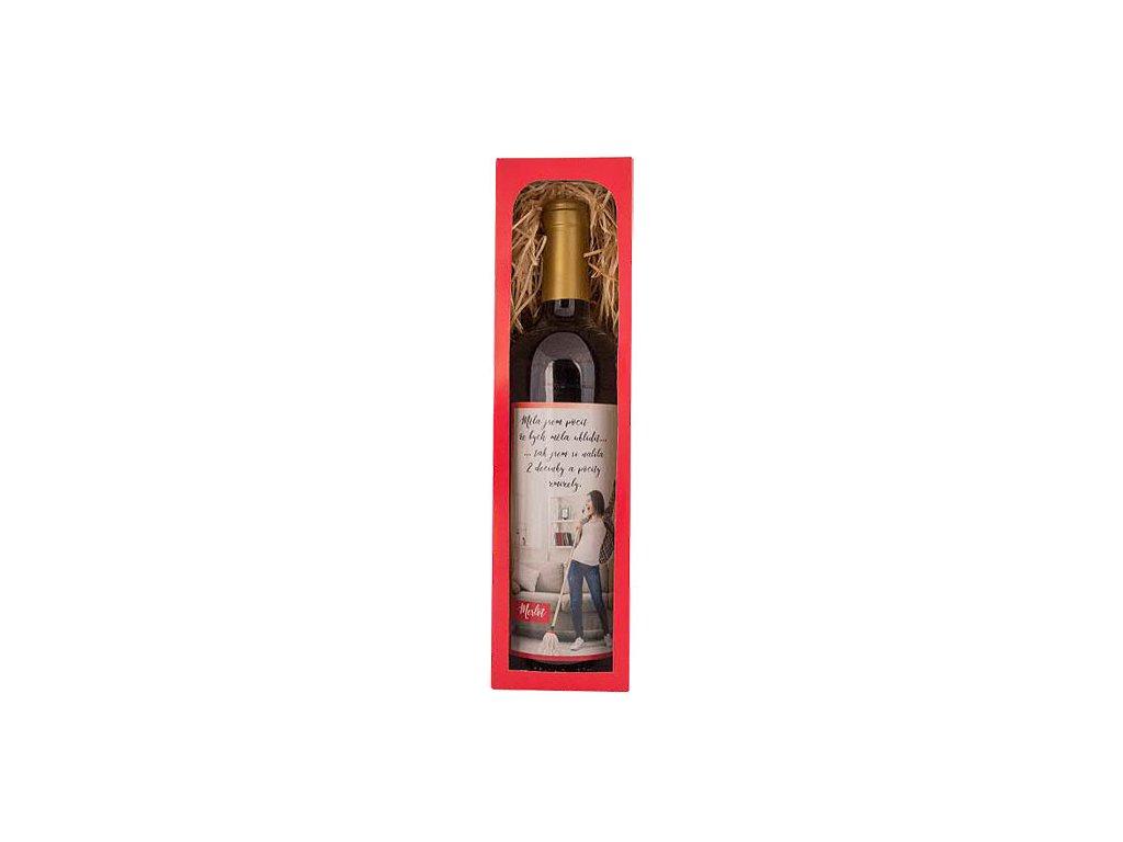 Bohemia Gifts Dárkové červené víno 0,75 l Merlot – dvě decinky