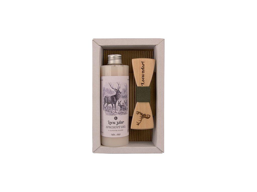 Bohemia Gifts Kosmetická sada pro myslivce - sprchový gel 250 ml a motýlek