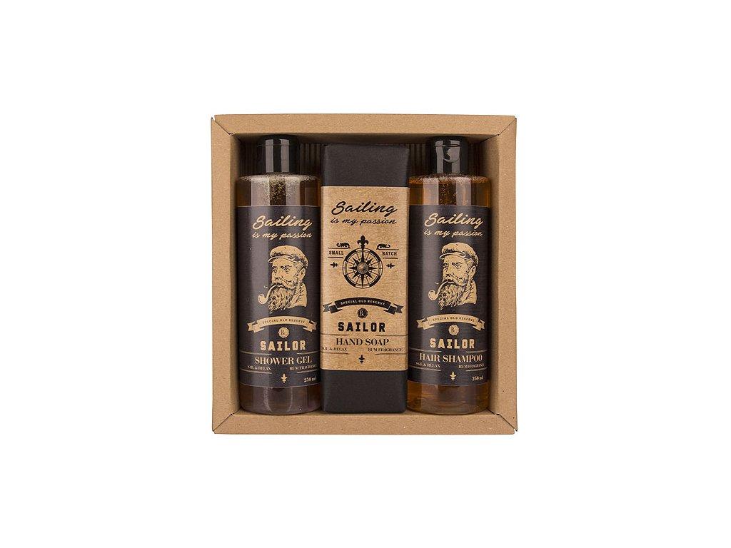 Bohemia Gifts Kosmetická sada Sailor – gel 250ml, mýdlo 145g a šampon 250ml