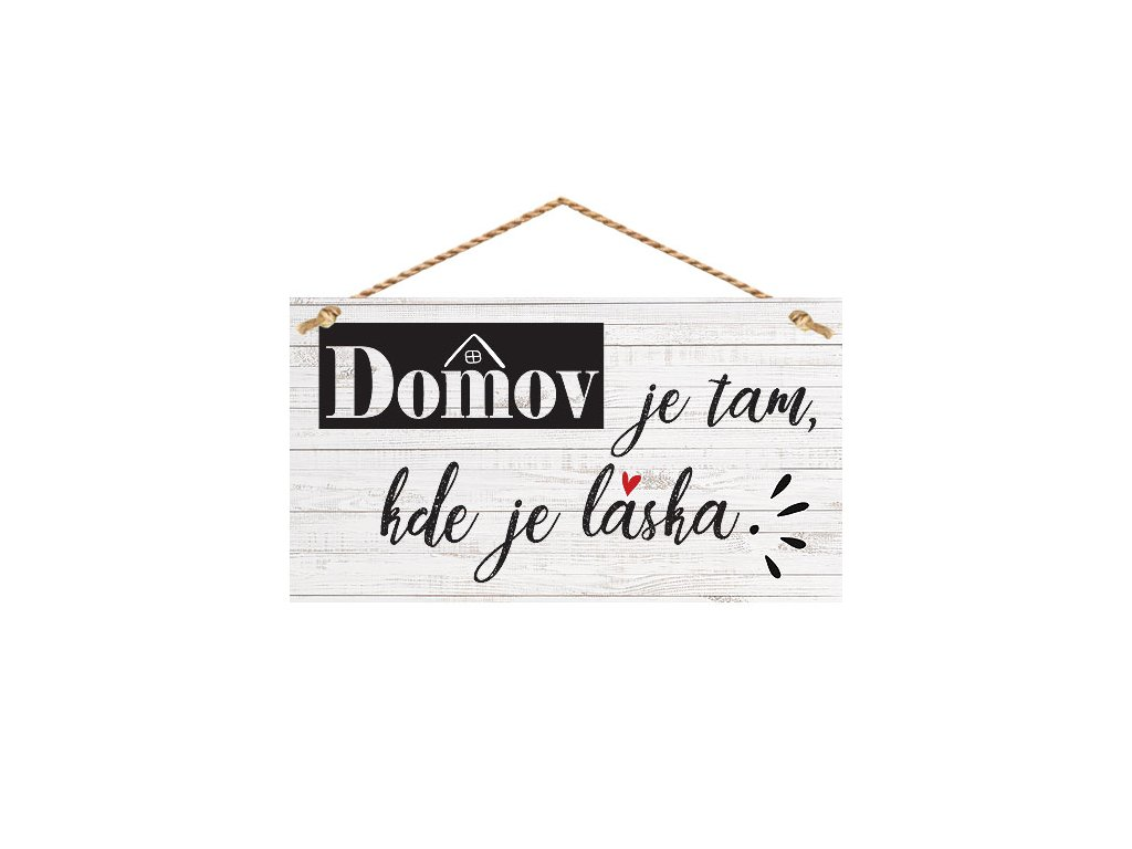 Bohemia Gifts Dekorační obrázek na zavěšení - domov