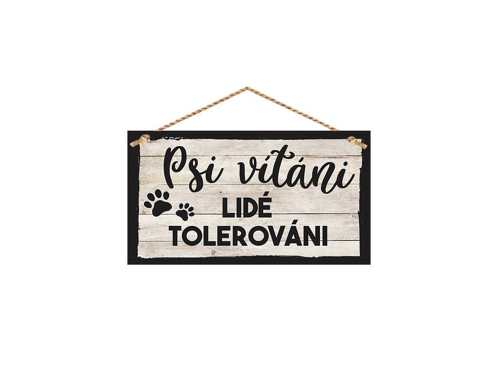 Bohemia Gifts Dekorační obrázek na zavěšení - psi vítáni