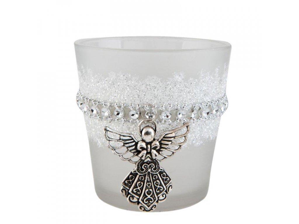 Sklenička na čajovou svíčku ANGEL Ø 8*8 cm