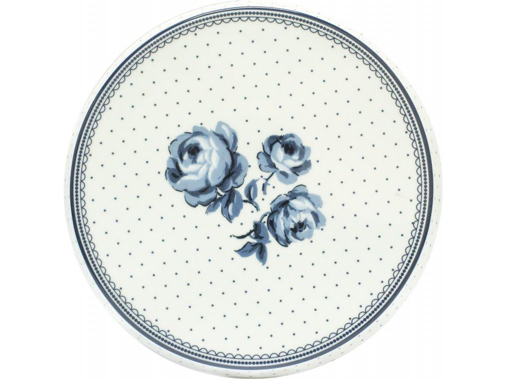 Porcelánový talíř na dorty Vintage Indigo Floral od Katie Alice