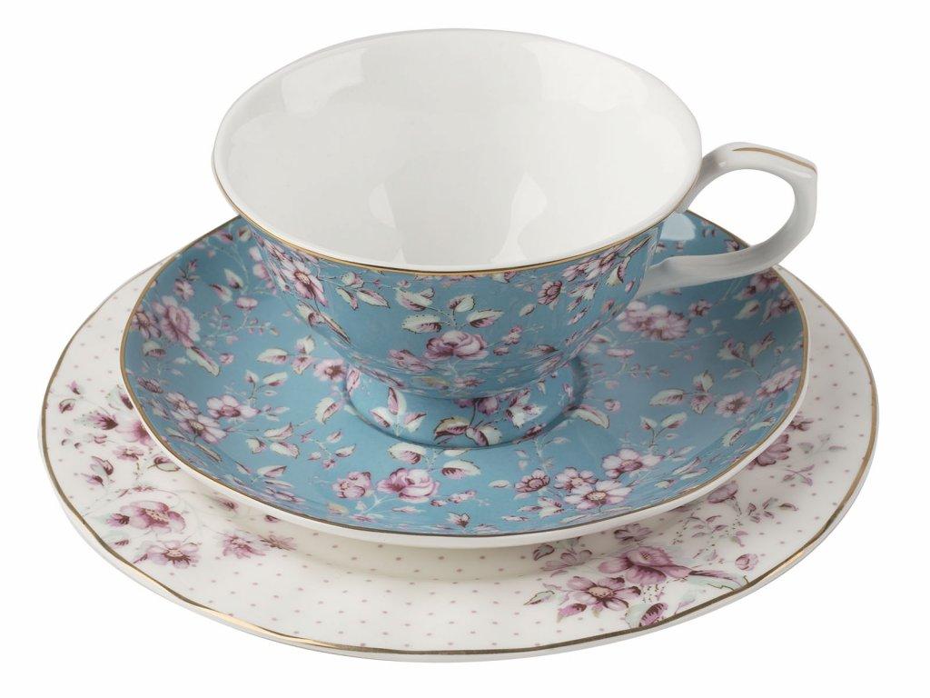 Creative Tops - Porcelánový hrnek s podšálkem a dezertním talířkem Ditsy od Katie Alice - 200 ml