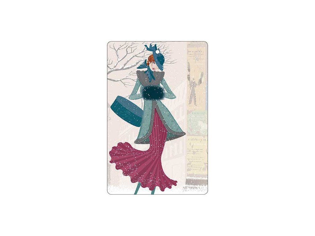 Bohemia Gifts Aromatická vonná karta 10,5 x 16 cm - zima