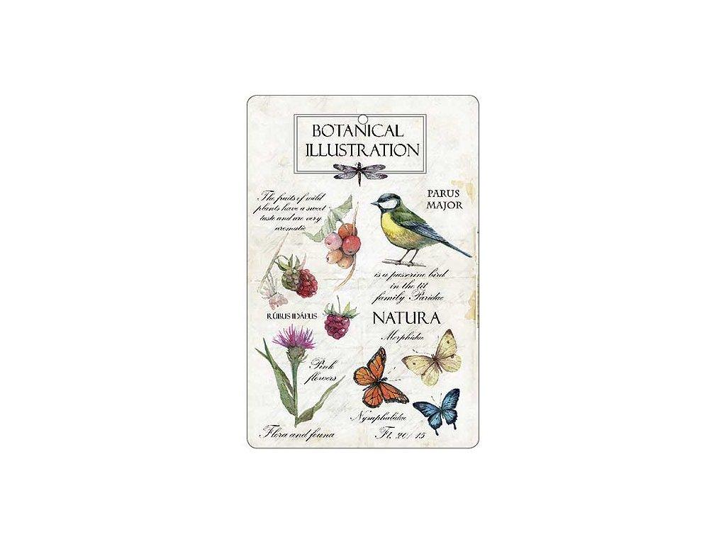Bohemia Gifts Aromatická vonná karta 10,5 x 16 cm - natura