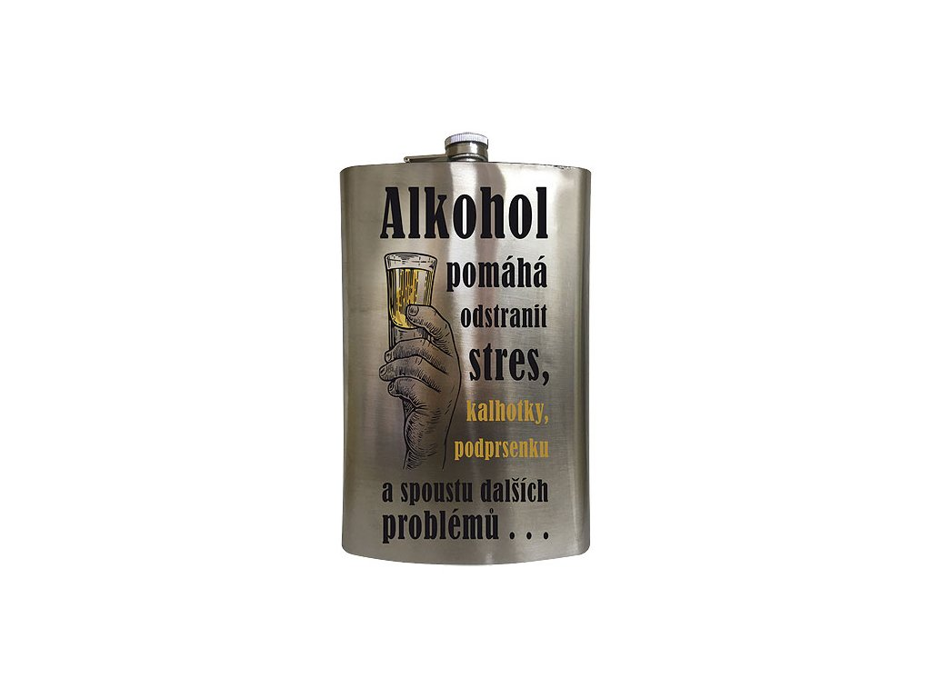 Bohemia Gifts Placatka na alkohol 1,8 l - alkohol pomáhá