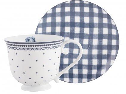 Creative Tops - Porcelánový hrnek s podšálkem Vintage Indigood Katie Alice -  /15*15*8,5 cm/