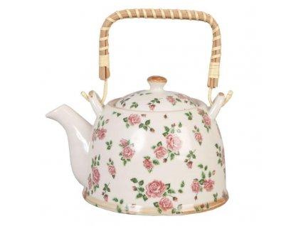 Clayre & Eef - Keramická konvička na čaj - 700 ml