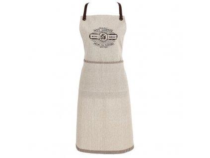 Clayre & Eef - Zástěra s kávovým motivem - 70*85 cm