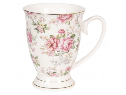 Clayre & Eef - Porcelánový hrníček III - 11*8*10 cm / 0,3L