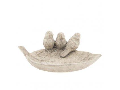Clayre & Eef - Ptačí pítko ve tvaru listu - 26*16*10 cm