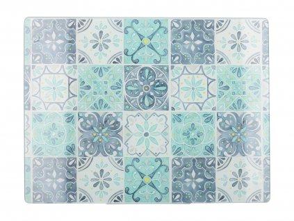 Creative Tops - Skleněné krájecí prkénko Green Tile - 40*30 cm