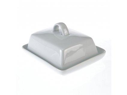 Máslenka - 16x13x6cm bílá, porcelán