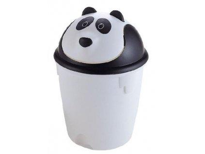"""Dětský odpadkový koš  """"PANDA"""" výklopný v bílé barvě - 6 l"""