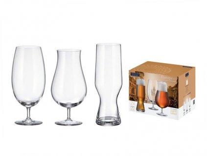 Sada skleniček na pivo - sklen.sada pivní 3x2ks (2x630,2x550,2x680ml)