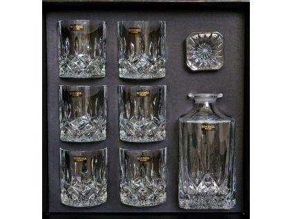Skleněná karafa + 6 skleniček na whisky - 300ml whisky CLASSICO whisky BOH.POL.