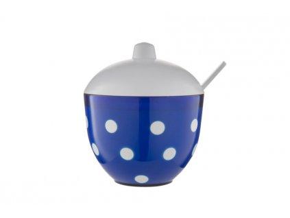 Cukřenka MARUSYA modrá s bílými puntíky