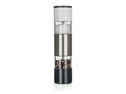 Mlýnek na koření - mlýnek ALEGRIA 21,8cm, 2v1 P/S, NR/akryl, ker.strojek