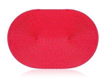 Oválné prostírání - prostírání 45x30cm ovál MADEIRA červené