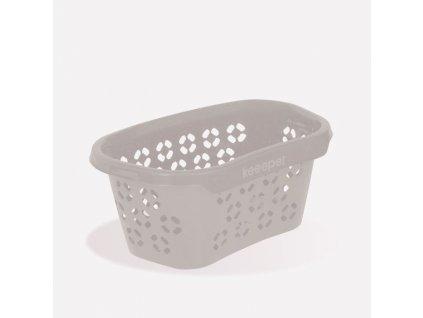 Koš na čisté prádlo - koš 30,5l na čisté pr., ANTON, šedý, 57x38x26cm